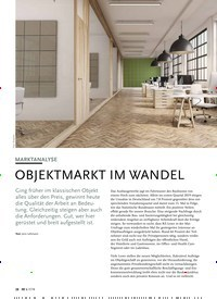 Titelbild der Ausgabe 7/2019 von MARKTANALYSE: OBJEKTMARKT IM WANDEL. Zeitschriften als Abo oder epaper bei United Kiosk online kaufen.
