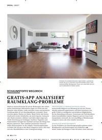 Titelbild der Ausgabe 7/2019 von OBJEKT: SCHAUMSTOFFE WEGERICH: GRATIS-APP ANALYSIERT RAUMKLANG-PROBLEME. Zeitschriften als Abo oder epaper bei United Kiosk online kaufen.