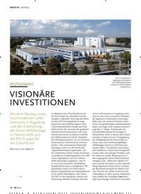 Titelbild der Ausgabe 8/2019 von PCI/THOMSIT: VISIONÄRE INVESTITIONEN. Zeitschriften als Abo oder epaper bei United Kiosk online kaufen.