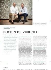 Titelbild der Ausgabe 8/2019 von ZIMMER + ROHDE:BLICK IN DIE ZUKUNFT. Zeitschriften als Abo oder epaper bei United Kiosk online kaufen.