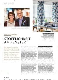 Titelbild der Ausgabe 8/2019 von ADO GOLDKANTE:STOFFLICHKEIT AM FENSTER. Zeitschriften als Abo oder epaper bei United Kiosk online kaufen.