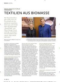 Titelbild der Ausgabe 9/2019 von AKTUELL: DECO DESIGN FÜRUS TEXTILIEN AUS BIOMASSE. Zeitschriften als Abo oder epaper bei United Kiosk online kaufen.