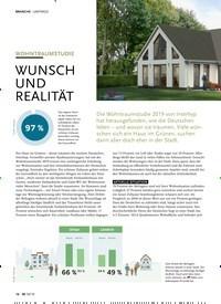 Titelbild der Ausgabe 10/2019 von UMFRAGE: WOHNTRAUMSTUDIE: WUNSCH UND REALITÄT. Zeitschriften als Abo oder epaper bei United Kiosk online kaufen.