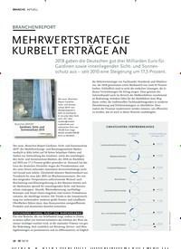 Titelbild der Ausgabe 10/2019 von AKTUELL: BRANCHENREPORT: MEHRWERTSTRATEGIE KURBELT ERTRÄGE AN. Zeitschriften als Abo oder epaper bei United Kiosk online kaufen.