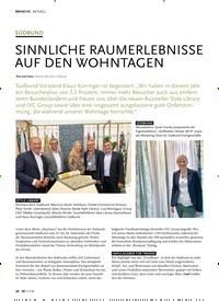 Titelbild der Ausgabe 11/2019 von SÜDBUND: SINNLICHE RAUMERLEBNISSE AUF DEN WOHNTAGEN. Zeitschriften als Abo oder epaper bei United Kiosk online kaufen.