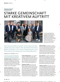 Titelbild der Ausgabe 12/2019 von AKTUELL: DECO TEAM: STARKE GEMEINSCHAFT MIT KREAT IVEM AUFTRITT. Zeitschriften als Abo oder epaper bei United Kiosk online kaufen.