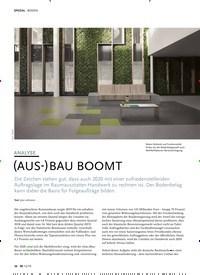 Titelbild der Ausgabe 12/2019 von BODEN: ANALYSE: (AUS-)BAU BOOMT. Zeitschriften als Abo oder epaper bei United Kiosk online kaufen.
