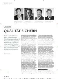 Titelbild der Ausgabe 1/2020 von UMFRAGE: QUALITÄT SICHERN. Zeitschriften als Abo oder epaper bei United Kiosk online kaufen.