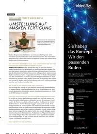 Titelbild der Ausgabe 6/2020 von INTERVIEW: SCHAUMSTOFFE WEGERICH: UMSTELLUNG AUF MASKEN-FERTIGUNG. Zeitschriften als Abo oder epaper bei United Kiosk online kaufen.