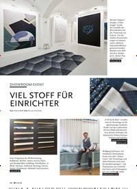 Titelbild der Ausgabe 6/2020 von SHOWROOM-EVENT: VIEL STOFF FÜR EINRICHTER. Zeitschriften als Abo oder epaper bei United Kiosk online kaufen.