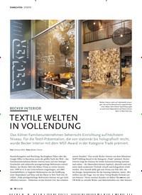 Titelbild der Ausgabe 6/2020 von BECKER INTERIOR: TEXTILE WELTEN IN VOLLENDUNG. Zeitschriften als Abo oder epaper bei United Kiosk online kaufen.