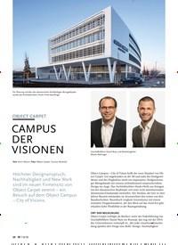 Titelbild der Ausgabe 8/2020 von OBJECT CARPET: CAMPUS DER VISIONEN: OBJEKT. Zeitschriften als Abo oder epaper bei United Kiosk online kaufen.