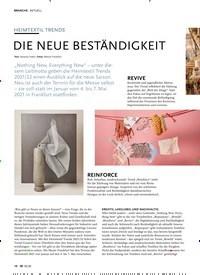 Titelbild der Ausgabe 10/2020 von AKTUELL: HEIMTEXTIL TRENDS: DIE NEUE BESTÄNDIGKEIT. Zeitschriften als Abo oder epaper bei United Kiosk online kaufen.