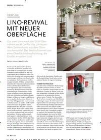 Titelbild der Ausgabe 11/2020 von GERFLOR: LINO-REVIVAL MIT NEUER OBERFLÄCHE. Zeitschriften als Abo oder epaper bei United Kiosk online kaufen.