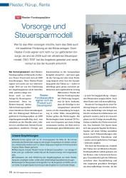Titelbild der Ausgabe 7/2008 von Vorsorge und Steuersparmodell: TEST Riester-Fondssparpläne. Zeitschriften als Abo oder epaper bei United Kiosk online kaufen.