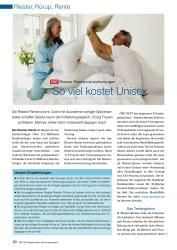 Titelbild der Ausgabe 7/2008 von So viel kostet Unisex: TEST Riester-Rentenversicherungen. Zeitschriften als Abo oder epaper bei United Kiosk online kaufen.