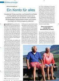 Titelbild der Ausgabe 90/2011 von Altersvorsorgekonto: Ein Konto für alles. Zeitschriften als Abo oder epaper bei United Kiosk online kaufen.