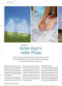 Titelbild der Ausgabe 10/2014 von Hausplanung: Kühler Kopf in heißer Phase. Zeitschriften als Abo oder epaper bei United Kiosk online kaufen.