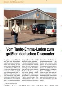 Titelbild der Ausgabe 6/2009 von Vom Tante-Emma-Laden zum größten deutschen Discounter. Zeitschriften als Abo oder epaper bei United Kiosk online kaufen.