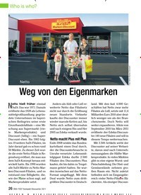 Titelbild der Ausgabe 7/2011 von Netto: Weg von den Eigenmarken. Zeitschriften als Abo oder epaper bei United Kiosk online kaufen.
