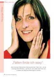 """Titelbild der Ausgabe 8/2008 von Die junge Wilde: """"Falten finde ich sexy"""". Zeitschriften als Abo oder epaper bei United Kiosk online kaufen."""