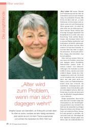 """Titelbild der Ausgabe 8/2008 von Die Jungfühlende: """"Alter wird zum Problem, wenn man sich dagegen wehrt"""". Zeitschriften als Abo oder epaper bei United Kiosk online kaufen."""
