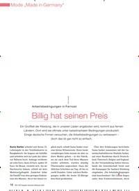 Titelbild der Ausgabe 4/2009 von Arbeitsbedingungen in Fernost: Billig hat seinen Preis. Zeitschriften als Abo oder epaper bei United Kiosk online kaufen.