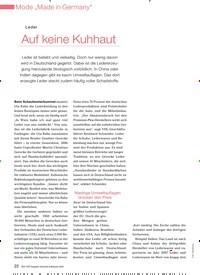 Titelbild der Ausgabe 4/2009 von Leder: Auf keine Kuhhaut. Zeitschriften als Abo oder epaper bei United Kiosk online kaufen.