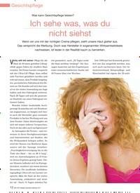 Titelbild der Ausgabe 98/2011 von Was kann Gesichtspflege leisten? Ich sehe was, was du nicht siehst. Zeitschriften als Abo oder epaper bei United Kiosk online kaufen.