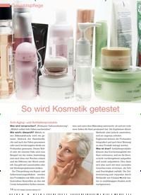 Titelbild der Ausgabe 98/2011 von So wird Kosmetik getestet. Zeitschriften als Abo oder epaper bei United Kiosk online kaufen.