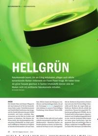 Titelbild der Ausgabe 6/2019 von GREENWASHING: HELLGRÜN. Zeitschriften als Abo oder epaper bei United Kiosk online kaufen.