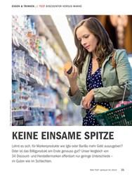 Titelbild der Ausgabe 10/2018 von TEST DISCOUNTER VERSUS MARKE: KEINE EINSAME SPITZE. Zeitschriften als Abo oder epaper bei United Kiosk online kaufen.