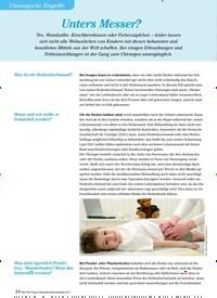 Titelbild der Ausgabe 3/2012 von Chirurgische Eingriffe: Unters Messer?. Zeitschriften als Abo oder epaper bei United Kiosk online kaufen.