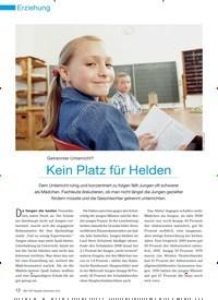 Titelbild der Ausgabe 10/2010 von Getrennter Unterricht? Kein Platz für Helden. Zeitschriften als Abo oder epaper bei United Kiosk online kaufen.