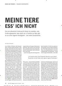 Titelbild der Ausgabe 9/2019 von VEGANER KINDERGARTEN: MEINE TIERE ESS' ICH NICHT. Zeitschriften als Abo oder epaper bei United Kiosk online kaufen.