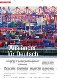 Titelbild der Ausgabe 3/2013 von TEST Made in Germany: Ausländer für Deutsch. Zeitschriften als Abo oder epaper bei United Kiosk online kaufen.