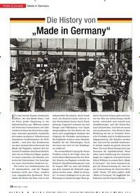"""Titelbild der Ausgabe 3/2013 von Made in Germany: Die History von """"Made in Germany"""". Zeitschriften als Abo oder epaper bei United Kiosk online kaufen."""