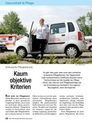 Titelbild der Ausgabe 11/2008 von Ambulante Pflegedienste: Kaum objektive Kriterien. Zeitschriften als Abo oder epaper bei United Kiosk online kaufen.
