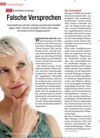 Titelbild der Ausgabe 12/2012 von TesT Antifaltencremes Falsche Versprechen. Zeitschriften als Abo oder epaper bei United Kiosk online kaufen.