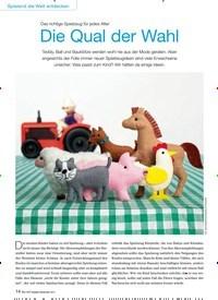 Titelbild der Ausgabe 9/2015 von Das richtige Spielzeug für jedes Alter: Die Qual der Wahl. Zeitschriften als Abo oder epaper bei United Kiosk online kaufen.