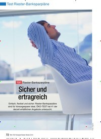 Titelbild der Ausgabe 1/2010 von Test Riester-Banksparpläne: TEST Riester-Banksparpläne: Sicher und ertragreich. Zeitschriften als Abo oder epaper bei United Kiosk online kaufen.