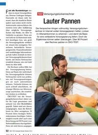 Titelbild der Ausgabe 1/2010 von TEST Versoraunaslückenrechner: Lauter Pannen. Zeitschriften als Abo oder epaper bei United Kiosk online kaufen.