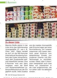 Titelbild der Ausgabe 8/2010 von E-Nummern: Zu dieser Liste. Zeitschriften als Abo oder epaper bei United Kiosk online kaufen.