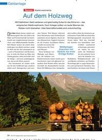 Titelbild der Ausgabe 11/2010 von Übersicht Waldinvestments: Auf dem Holzweg. Zeitschriften als Abo oder epaper bei United Kiosk online kaufen.