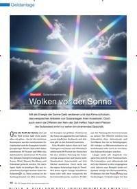 Titelbild der Ausgabe 11/2010 von Übersicht Solarinvestments: Wolken vor der Sonne. Zeitschriften als Abo oder epaper bei United Kiosk online kaufen.