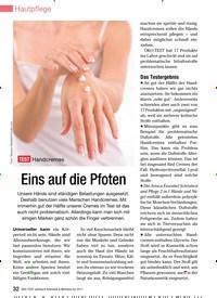 Titelbild der Ausgabe 13/2010 von TEST Handcremes: Eins auf die Pfoten. Zeitschriften als Abo oder epaper bei United Kiosk online kaufen.