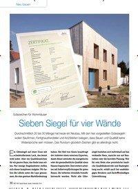 Titelbild der Ausgabe 10/2014 von Gütezeichen für Wohnhäuser: Sieben Siegel für vier Wände. Zeitschriften als Abo oder epaper bei United Kiosk online kaufen.