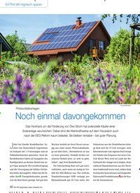 Titelbild der Ausgabe 10/2014 von Photovoltaikanlagen: Noch einmal davongekommen. Zeitschriften als Abo oder epaper bei United Kiosk online kaufen.