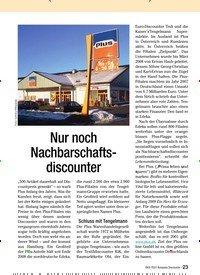 Titelbild der Ausgabe 6/2009 von Nur noch Nachbarschaftsdiscounter. Zeitschriften als Abo oder epaper bei United Kiosk online kaufen.