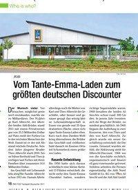 Titelbild der Ausgabe 7/2011 von Aldi: Vom Tante-Emma-Laden zum größten deutschen Discounter. Zeitschriften als Abo oder epaper bei United Kiosk online kaufen.